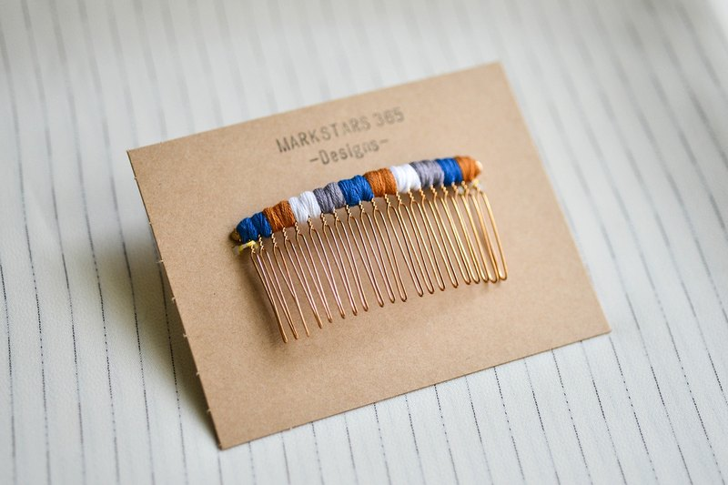 Contrast color knitting fork / hair insert / hair comb - zero