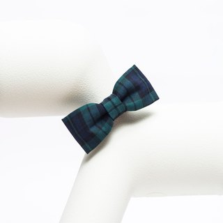 Orange Blinks Color Pet Bow Tie Green Plaid S/L