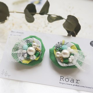 Handmade Earrings, Embroidery Earrings, Cotton
