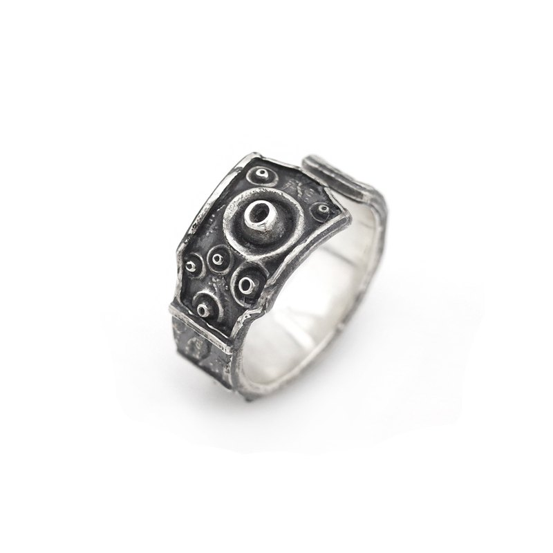 Audio speaker ring 925 sterling silver