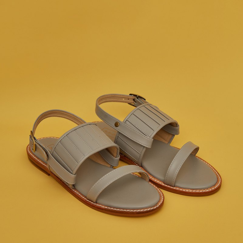 Pleated 2in1 Sandals - Storm Grey