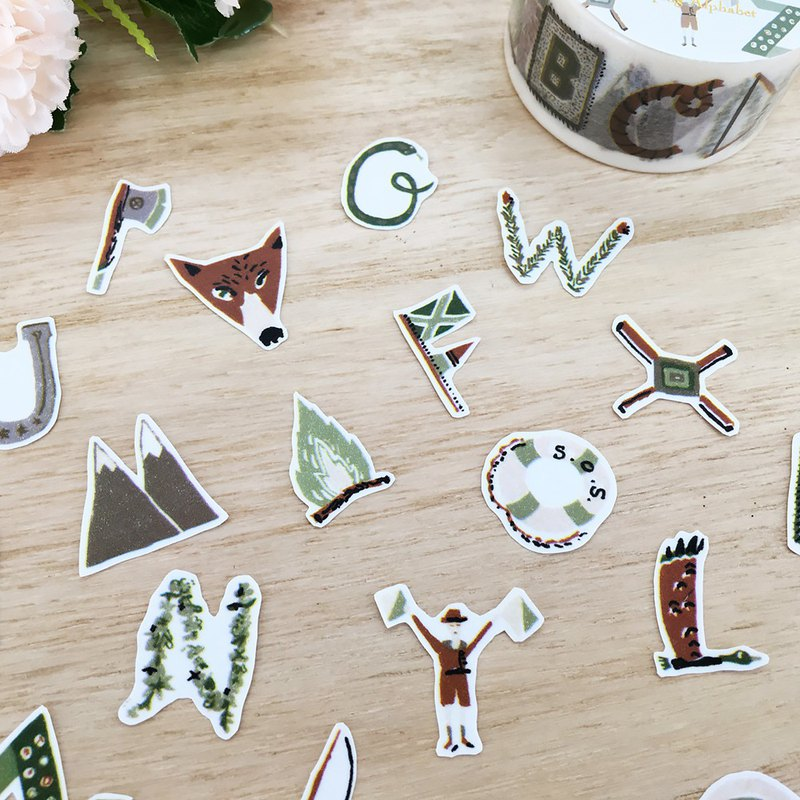 Aimez le style wild beauty deer and paper tape [camping letter] A04499