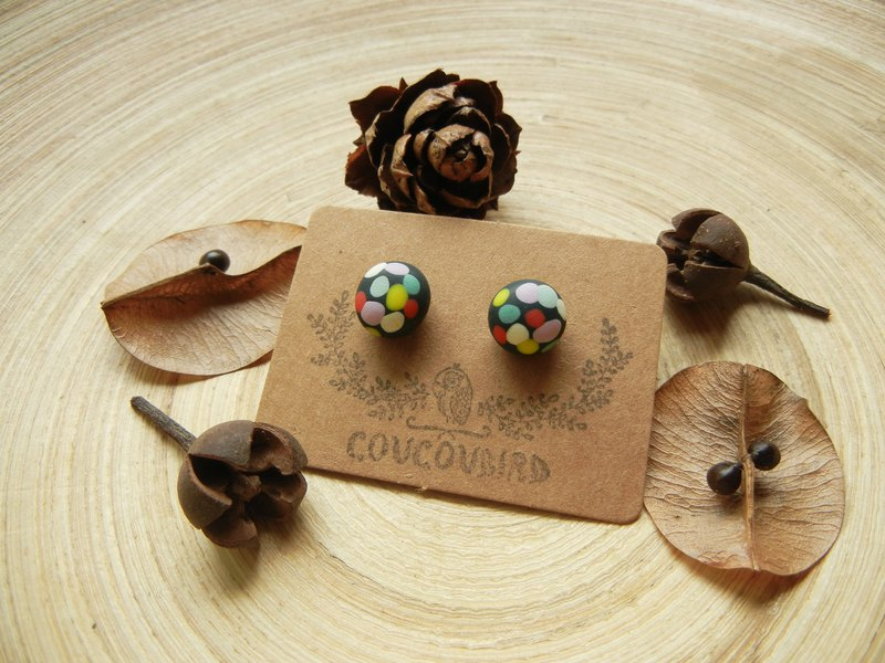 *coucoubird*party sparkling party earrings / anti-allergy ear needle