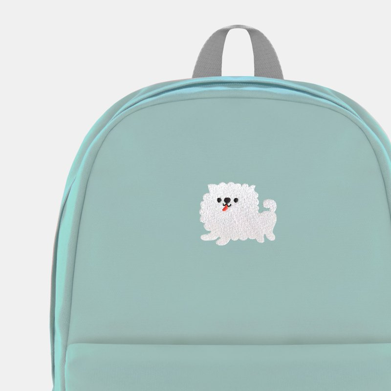 Angel White Dog - Lime Yogurt Canvas Embroidered Backpack 2.0