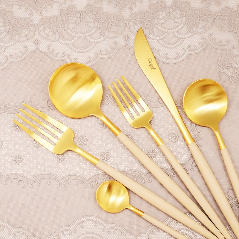 GOA BEIGE MATTE GOLD CUTLERY (SINGLE)