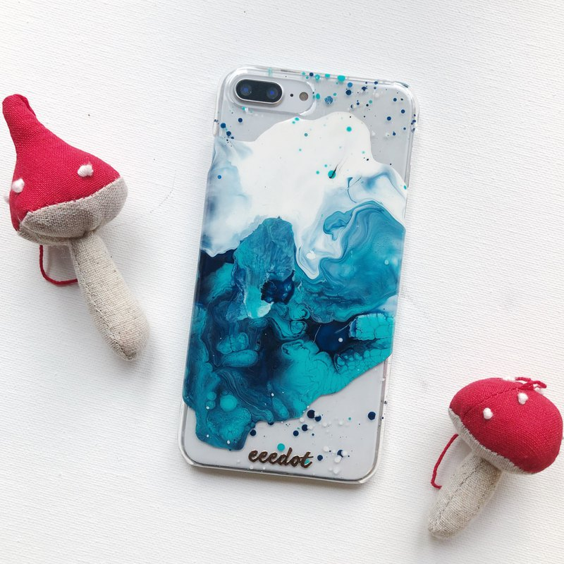 IPHONE 7+/8+ | Wave | Hand-painted phone case