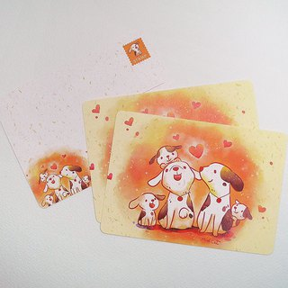 Dog Family Postcard