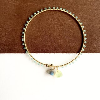 Apatite and Labradorite Bangle