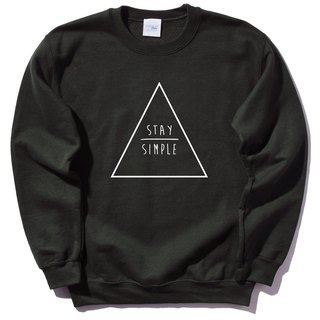 STAY SIMPLE Triangle University T bristles neutral black to maintain simple triangle geometry design own brand trendy circle Wenqing Hipster