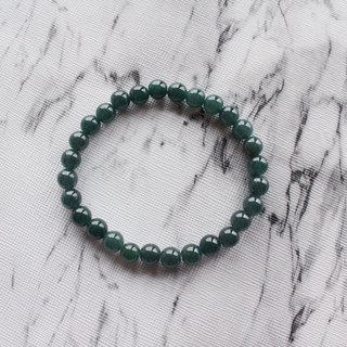 Journal-Time Pure Natural Pit Ice Blue Water Jade (Burma Jade) Fine Beads Bracelet Exclusive