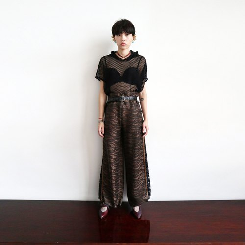 Pumpkin Vintage. Ancient Chinese style side hollow wide pants