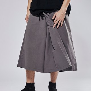Folding zipper wide pants # 9023