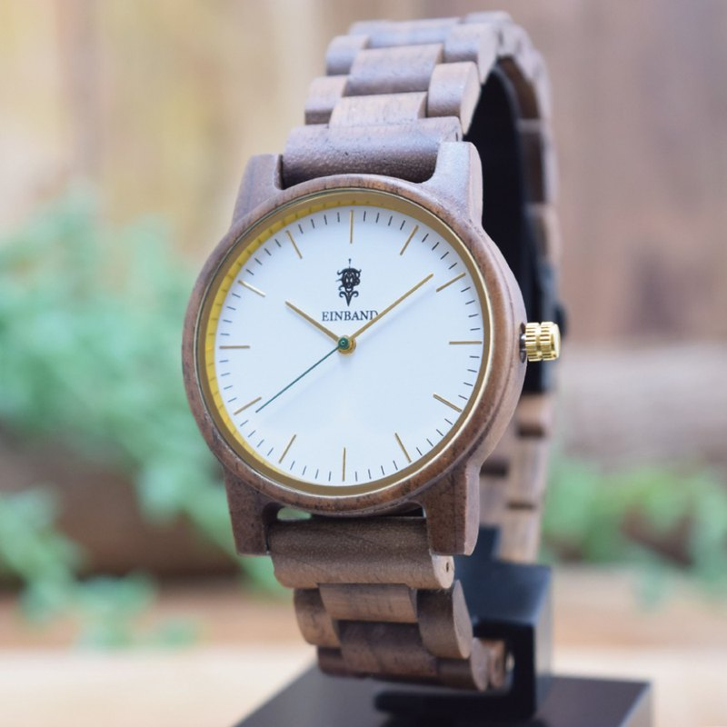 EINBAND Glanz  WHITE 36mm WoodBelt Wooden Watch