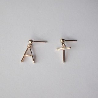 Initials Stud Earrings