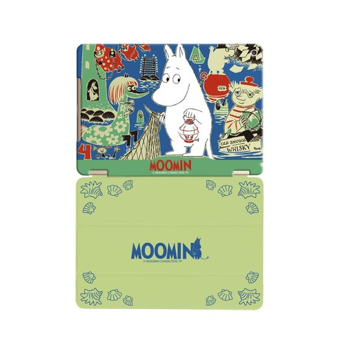 "Moomin Moomin genuine authority -iPad crystal shell: [expected] journey ""iPad / iPad Air"" Crystal Case (light green) + Smart Cover (light green)"