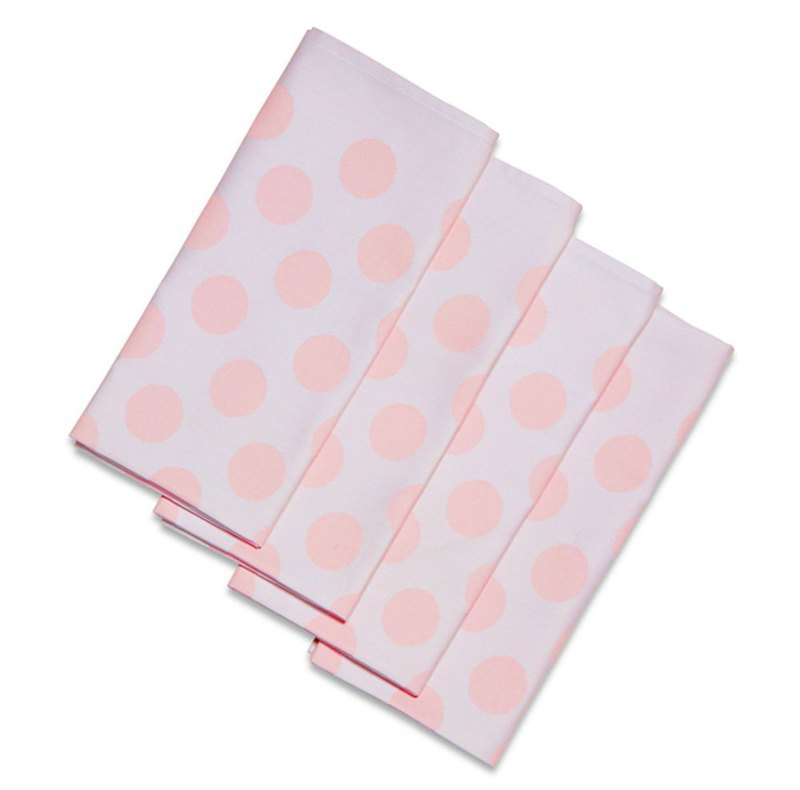 Surprise at the end of the year Pink Small & B Napkins / Pink Napkin (4 pcs)