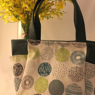 Spring and Jingming Warm Green Dots Out Tote Bag