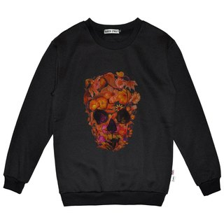 British Fashion Brand -Baker Street- Blossom Skull Printed Sweater