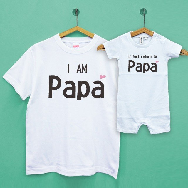Father's Day / anti-lost parent-child group / two into Japan UA cotton neutral T / children T / baby clothes