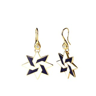 Dynamic Newton Cloisonne Earrings (gold) -18,105,151,096