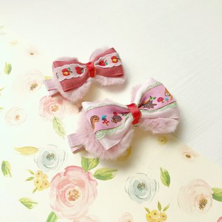 Parenting Sisters Hairpin Animals Apple Embroidery Lace (Sold in Pairs)