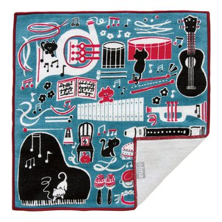 【IMA】WAFUKA Japan made Gift, Design, Soft, Cute & Unique Handkerchief- Rhythm C