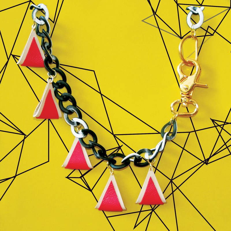 Sonniewing's Color Blocking Geometric Leather Necklace (Last Color)