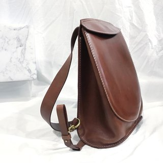 Leather vegetable tanned leather hard shell back pack