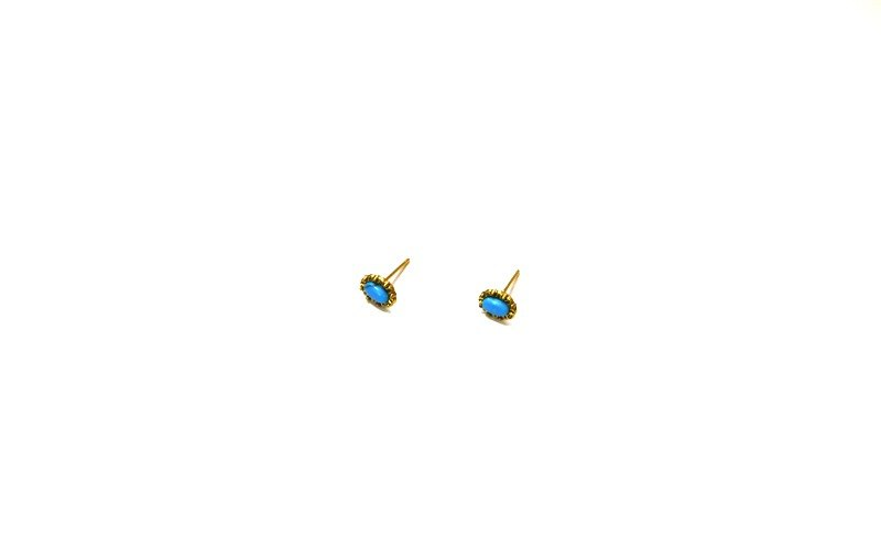 SL293 Light you up Turkish Blue Mini Earrings (Wear / Clip)
