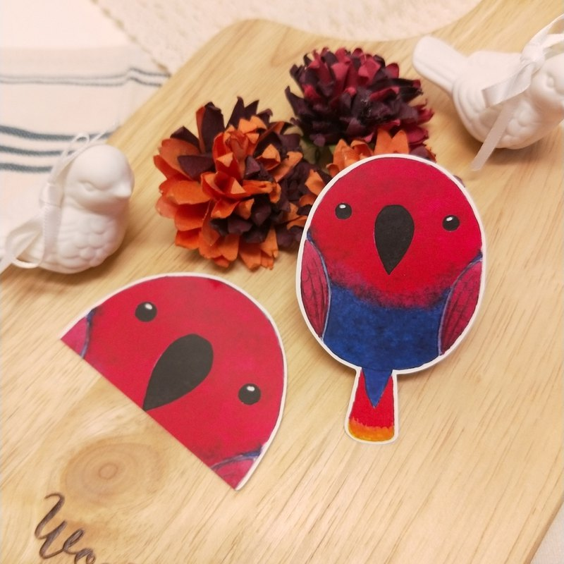 Rolia's hand made eclectic (mother) parrot waterproof stickers