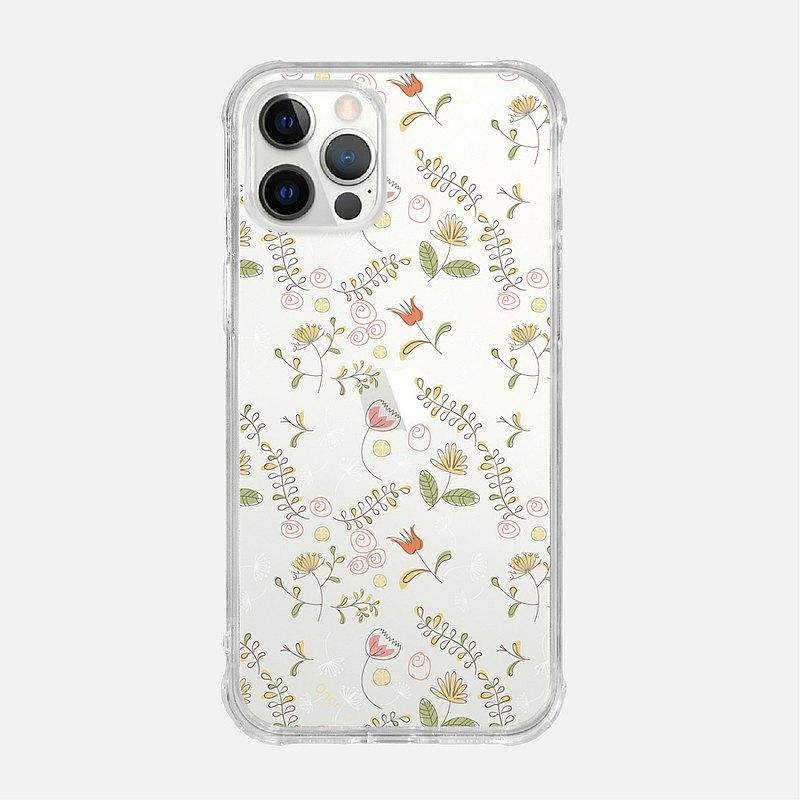 SMALL FLORAL【MUSTARD YELLOW】CRYSTALS PHONE CASE i5 iPhone se i6 iPhone 7 Plus