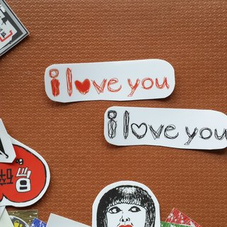 ( i love you ) Li-good - waterproof sticker, suitcase sticker NO.7