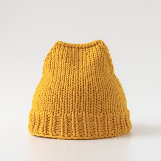 OTB102 ladder type hand-knitted cap - yellow
