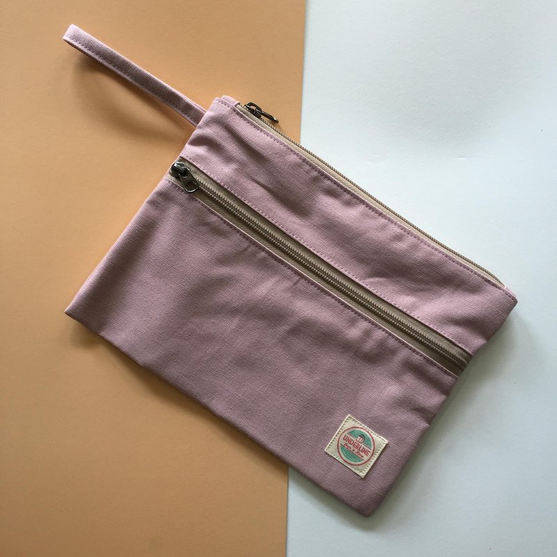 Light pink Canvas Handbag HB03 / Clutch / daily use