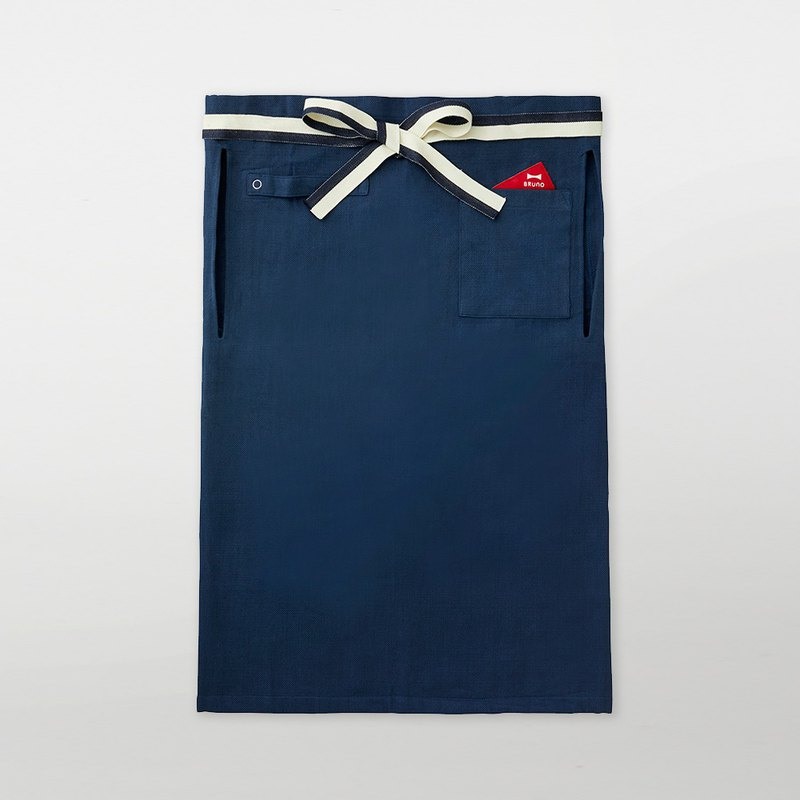 Japan BRUNO Food Salon Half-length Apron (Navy Blue)