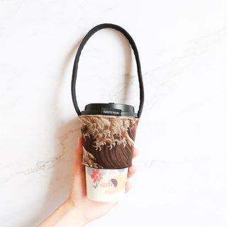 Eco-friendly beverage bag bag - brown wave thickening