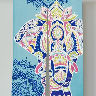 Pre-purchased Mandala Elephant Stitching Curtain (Tricolor) ISAP81A5