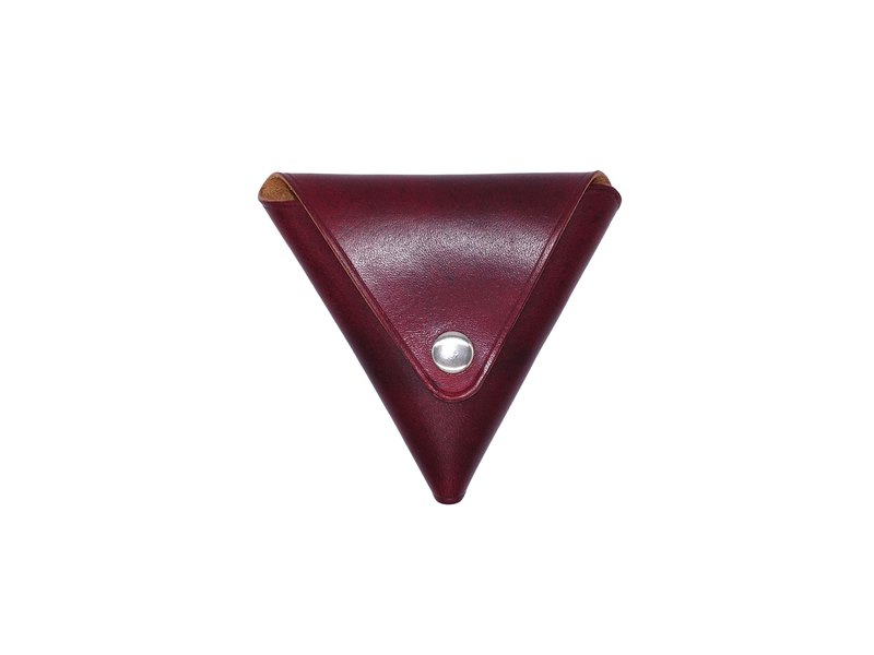 Triangle coin purse hand-dyed 2 openings quickly take change can be customized free print