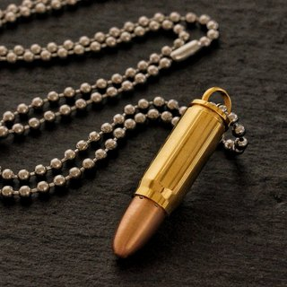 Stainless steel imitation bullet necklace