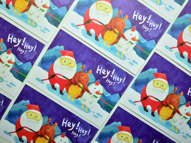Hey! Christmas is coming! Postcard package (5 packs)