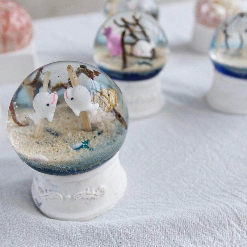 Ocean crystal ball and scented gypsum diffused stone experience class suitable for novice eternal flower can be a night light