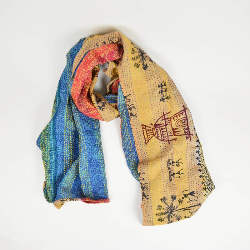 recycled silk saree scarf-fair trade