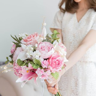 Japanese Pink Lily Bridal Bouquet
