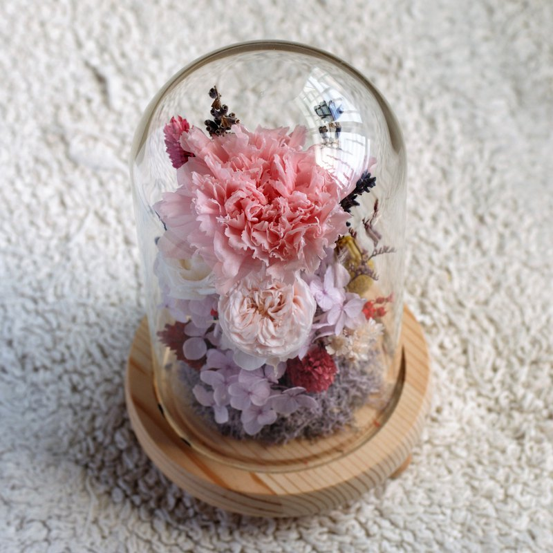 Originally hand-made dry flowers / eternal flowers / no withered carnation glass flower buds