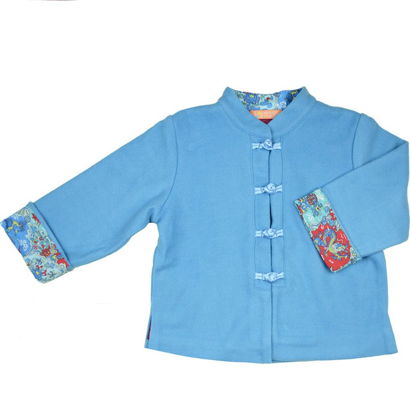 Children's small Tang suit ancient style winter Tang suit (Macaron sky blue)