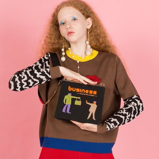 YIZISTORE original mouth gold embroidered shoulder bag female literary retro diagonal cross bag female wild casual chain bag