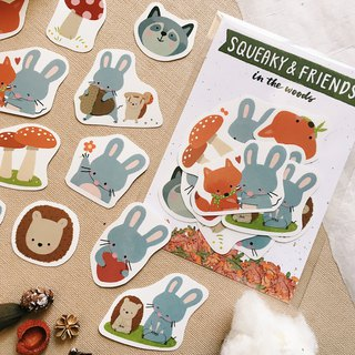 Squeaky & Friends - Waterproof Sticker Pack