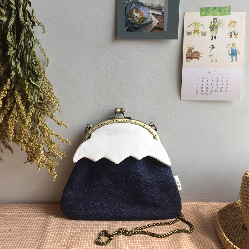 [Pinkoi Limited Color] Dark Blue Mount Fuji-Mouth Bag with Backpack