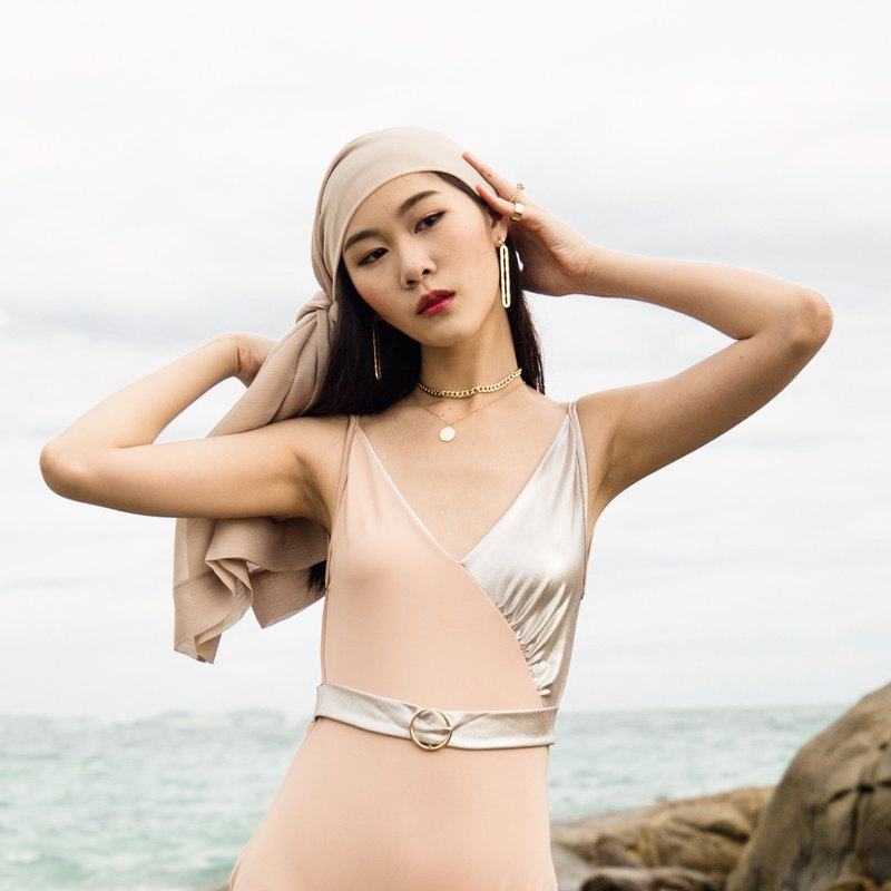 LORETTA GLAM Belted Swimsuit