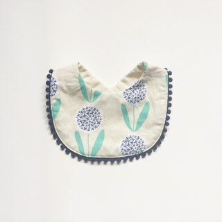 Organic Cotton Bib / Round Round Flowers